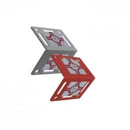 Plaquette angulaire RS80 rouge avec deux cibles réfléchissantes 40x40 TOPOCENTER
