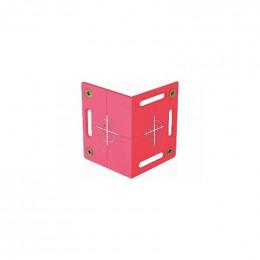 Plaquette angulaire RS100 rouge avec 4 réticules TOPOCENTER